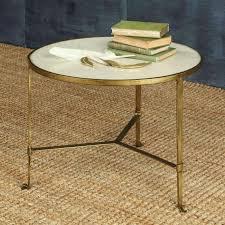 savoy iron u0026 stone coffee table antique brass with white marble