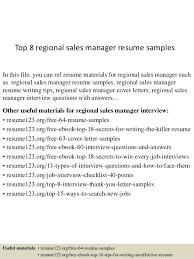 Top   regional sales manager resume samples SlideShare