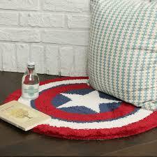 Round Bathroom Rugs by Round Floor Rug Avengers Captain America Shield Bath Bedroom Mat