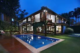 luxurious swimming pool design of david guerra garden house home