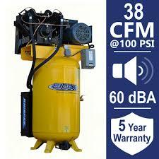 husky 80 gal 3 cylinder single stage electric air compressor