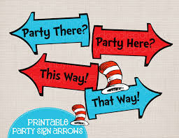 adorable dr seuss cat in the hat inspired printable party arrow