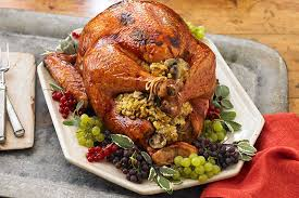 Stuffed Thanksgiving Turkey Brined Sage Turkey With Mushroom Stuffing Kraft Recipes