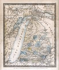 Map Of University Of Michigan by History Of Michigan Road Maps Burr 1831