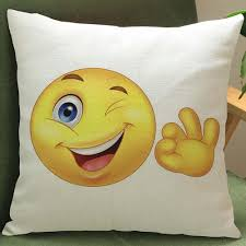 cute expression printing dyeing sofa bed home decor pillow case