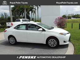 dealer toyota 2017 used toyota corolla le cvt automatic at royal palm toyota