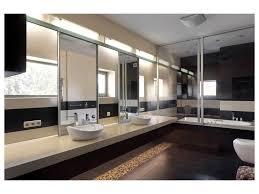 Beige And Black Bathroom Ideas Bathroom Beige Wall Black Border Ceilng Light Floating Vanity