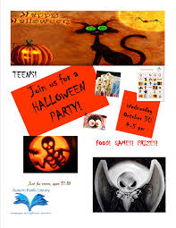 halloween party for teens teens join us for a halloween party on wednesday october 31 4 5