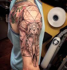 20 cool deer skull tattoos you u0027ll adore