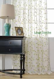 cotton and linen embroidered voile tulle curtains for living room