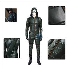 Halloween Costume Leather Jacket Aliexpress Buy 100 Green Arrow Costume Cosplay Leather