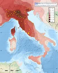 Map Of Italy Regions by Genetic Origins Of The Italian People Eupedia