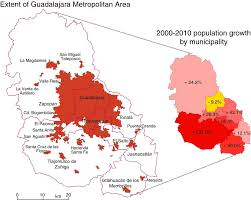 Mexico Cities Map by Population Change In The Guadalajara Metropolitan Area Geo