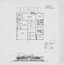 Mid Century Modern House Plan Fairhills Oc 274 574 Claude Oakland 1953 Sq Ft Eichlers
