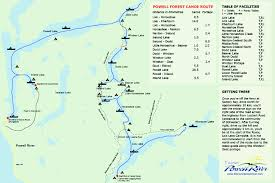 Lake Powell Map Powell Forest Canoe Route Travel Pinterest Canoeing Travel