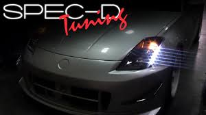 Nissan 350z Horsepower 2003 - specdtuning installation video 2003 2005 nissan 350z led