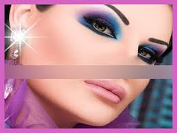 صور مكياج عيون باللون النيلي والأزرق 2013, ميك