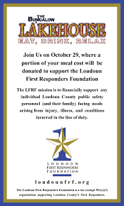 loudoun first responders foundation the bungalow lakehouse dine
