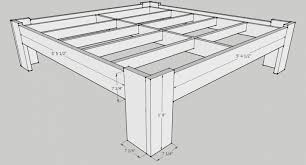 King Platform Bed Plans With Drawers by Bed Frames Bed Plans With Drawers Plans For Building A Bed Frame