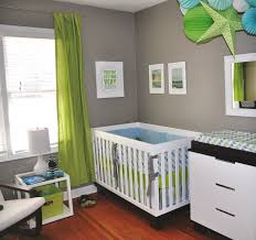 modern white baby boy bedroom theme ideas with colorful lovely modern kids bedroom ideas with white baby nursery and storage cabinet also grey wall color paint and green window treatments modern nursery ideas
