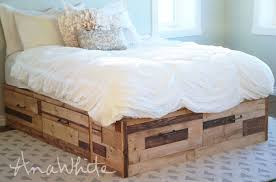 King Platform Bed Frame With Drawers Plans by Ana White Brandy Scrap Wood Storage Bed With Drawers Diy Projects