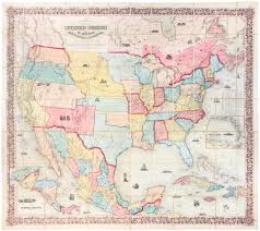 The Map Of The United States Of America by Colton U0027s Map Of The United States Of America The British