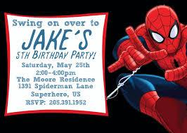 Free E Card Invitations Free Printable Spiderman Birthday Invitation Templates Hair