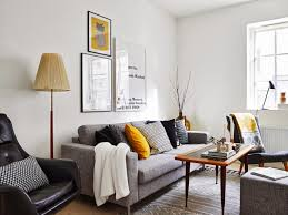 living room in a scandinavian style with yellow accents u2013 ideas
