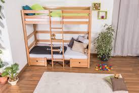 bunk bed children u0027s bed tim solid beech wood convertible in