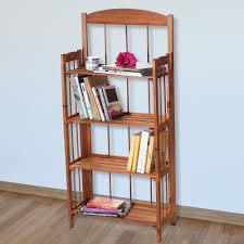 4 Shelf Bookcase White by Solid Wood Bookcases Walmart Com Rollback Lavish Home 4 Shelf