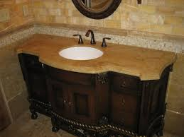 White Bathroom Vanity With Granite Top by Bathroom Vanity With Sink And Backsplash Brown High Gloss Finish
