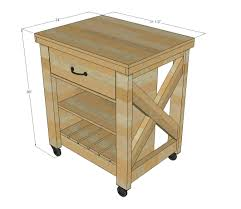 ana white build a rustic x small rolling kitchen island free