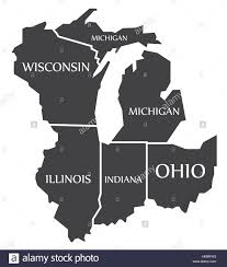 Map Of Wisconsin And Illinois by Michigan Wisconsin Illinois Indiana Ohio Map Labelled