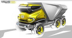 volvo truck design volvo future truck on behance future construction vehicles