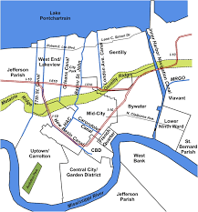 Ninth Ward New Orleans Map by Development Of The New Orleans Flood Protection System Prior To