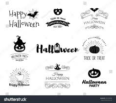 halloween party invitation label templates holiday stock vector