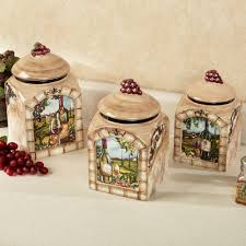 Glass Kitchen Canisters Airtight by Kitchen Canisters And Canister Sets Touch Of Class