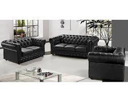 Chesterfield Sofa Sydney by Half Leather Sofa Set 44l5953