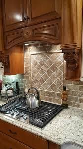 best 10 travertine backsplash ideas on pinterest beige kitchen travertine backsplash in walnut and giallo ornamental granite travertine backsplashkitchen