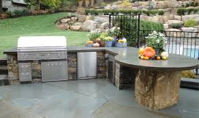 Diy Outdoor Kitchen Ideas Kitchen Outdoor Grill Station Ideas With Concrete Flooring
