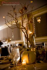 like the manzanita branch centerpieces and pumpkins as table u0027s
