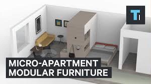 micro apartment modular furniture youtube