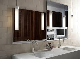 Bathroom Mirror With Lights Built In by Bathroom Ideas Pendant Modern Bathroom Lighting With Double Sink