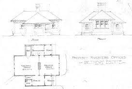 proposed foresters office biltmore estate side front floor plan