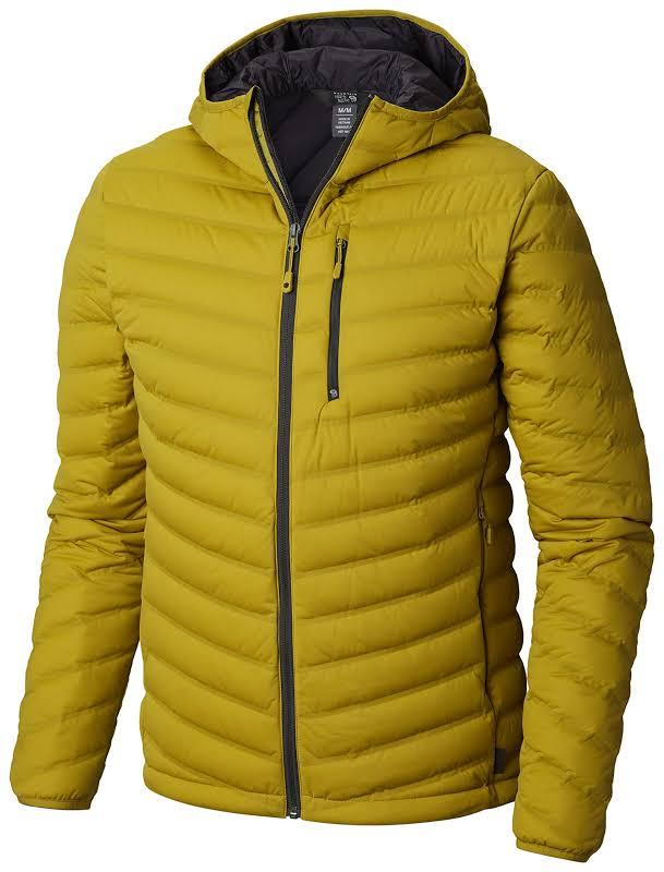 Mountain Hardwear Stretchdown Hooded Outdoor Jacket Dark Citron 2XL 1855761358-XXL