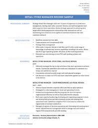 Good Customer Service Skills Resume Retail Store Manager Resume Samples Tips U0026 Templates