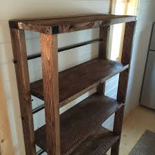 Wood Shelf Plans Free by Ana White Reclaimed Wood Rolling Shelf Diy Projects