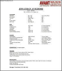 theatrical resume template no experience resume sample resume examples no experience resume resume