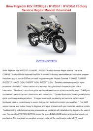 bmw reprom k2x r1200gs r1200rt r1200st factor by toby schane issuu