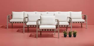 Modern Outdoor Sofa by Jibe Outdoor 3 Seat Sofa Modern Outdoor Sofas Blu Dot